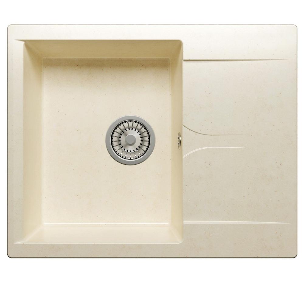 Кухонная мраморная мойка polygran gals-620 хлопок №331