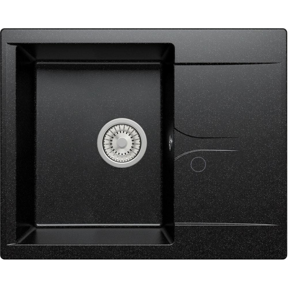 Кухонная мраморная мойка polygran gals-620 черный №16