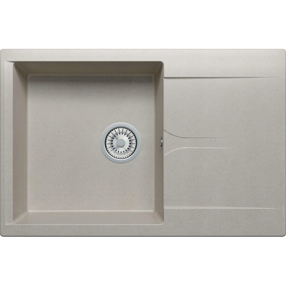Кухонная мраморная мойка polygran gals-760 серый №14