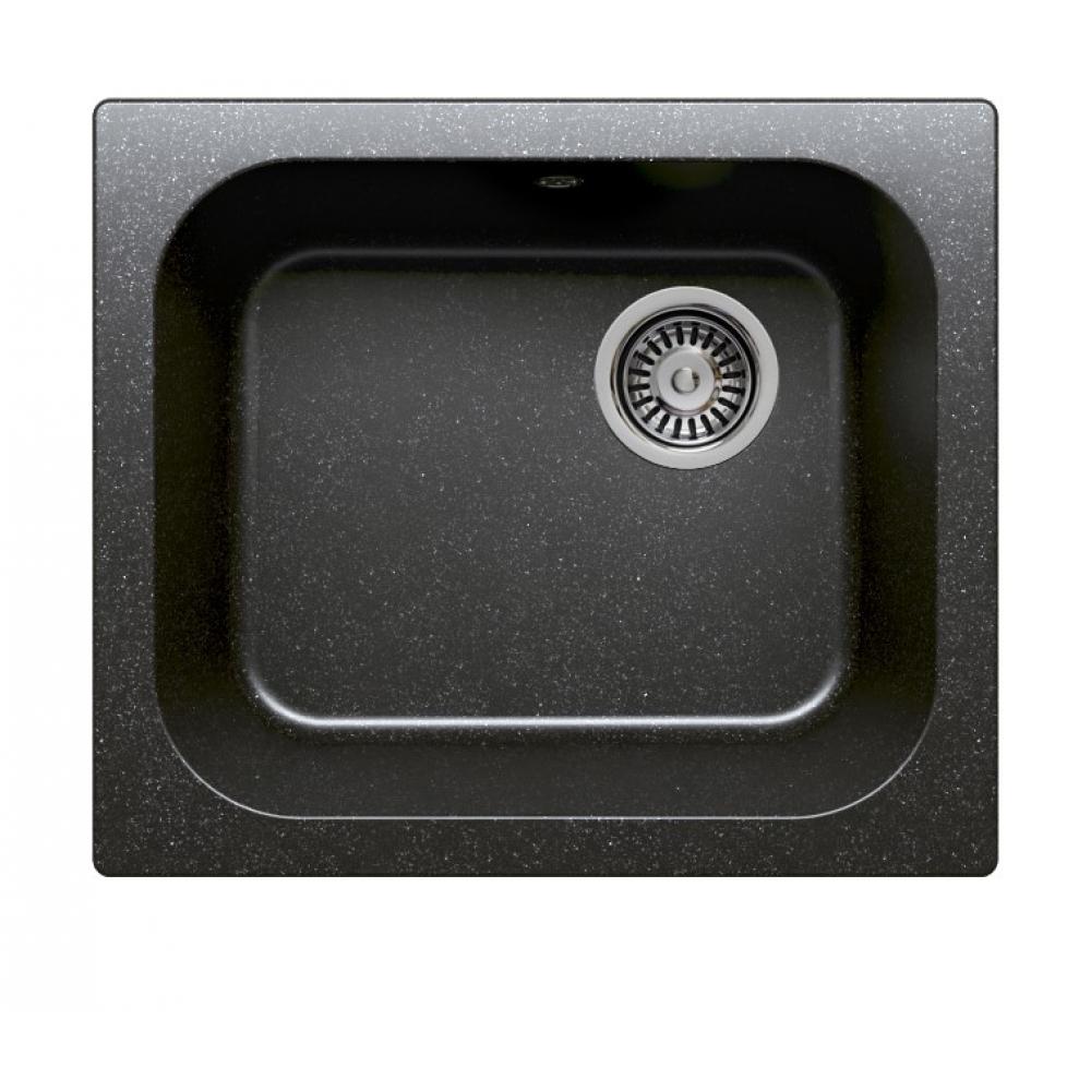 Кухонная мраморная мойка polygran f-17 черный №16