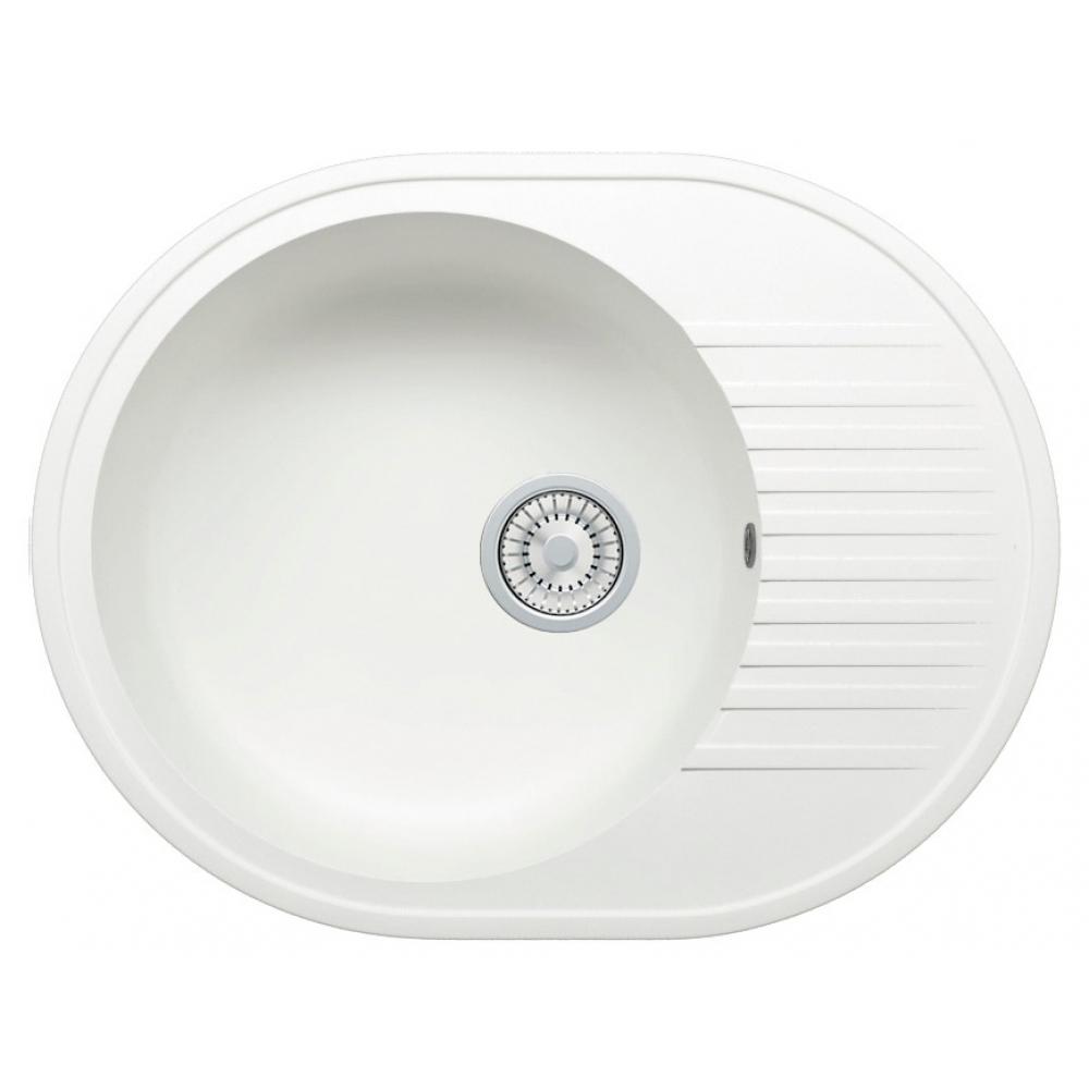 Кварцевая кухонная мойка tolero, цвет белый r-122 №923