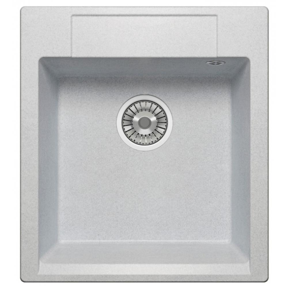 Кварцевая кухонная мойка tolero, цвет серый металлик r-117 №001