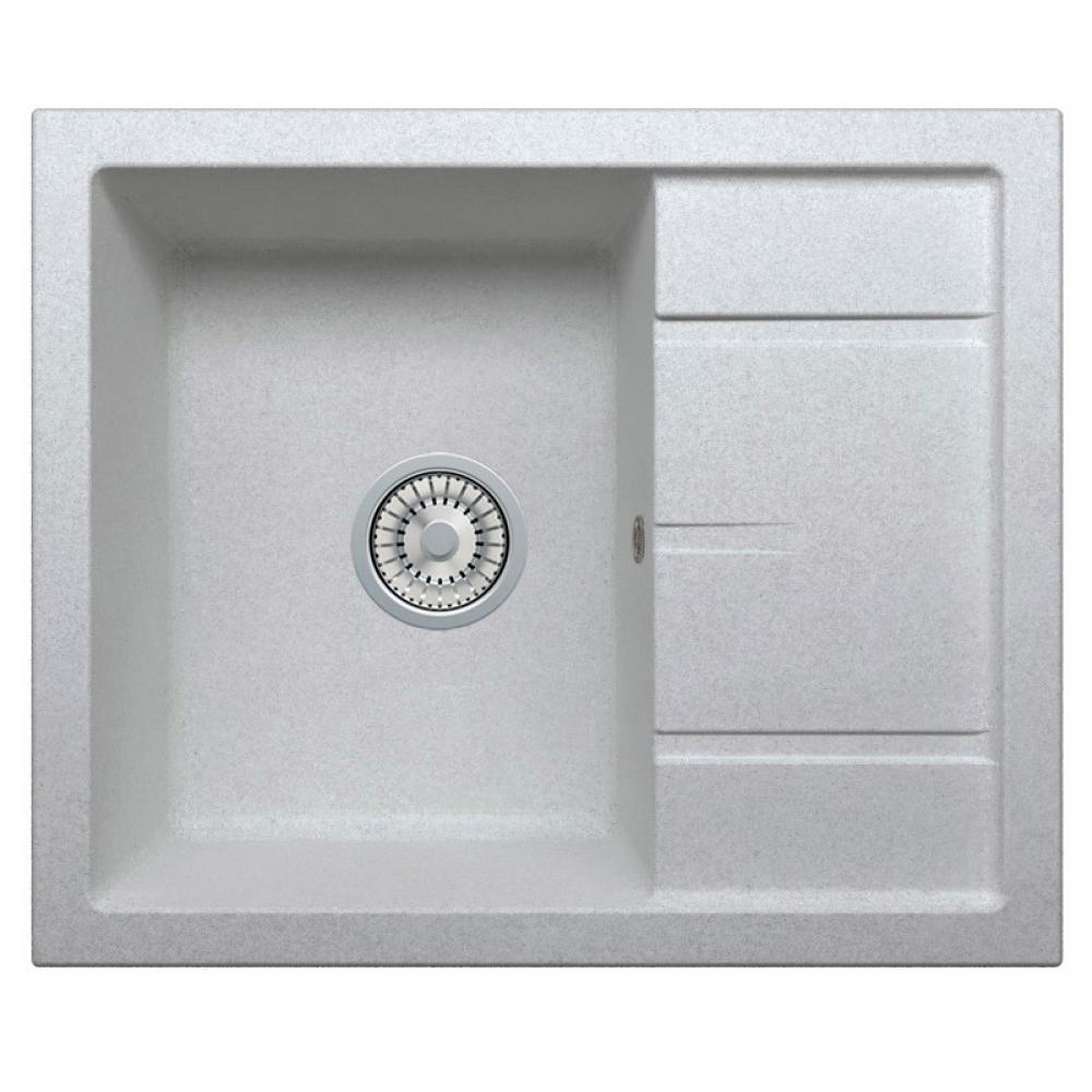 Кварцевая кухонная мойка tolero, цвет серый металлик r-107 №701