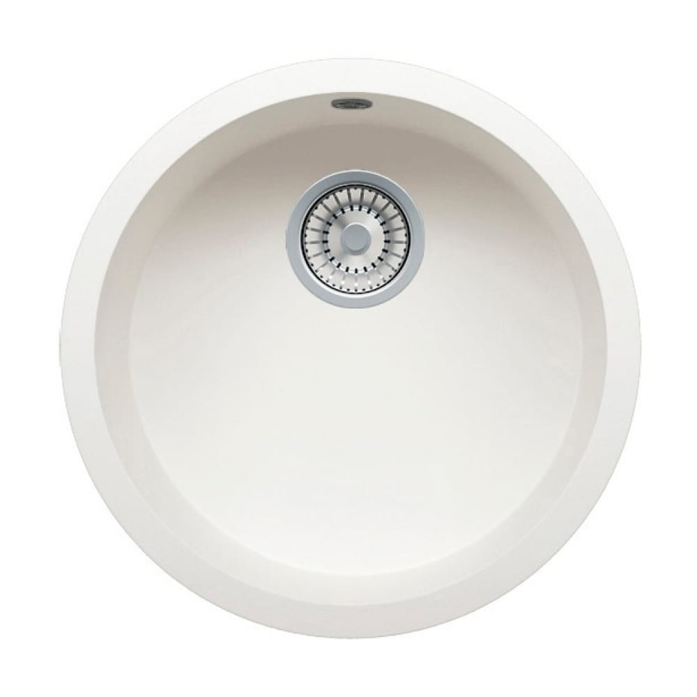 Кварцевая кухонная мойка tolero, цвет белый r-104 №923