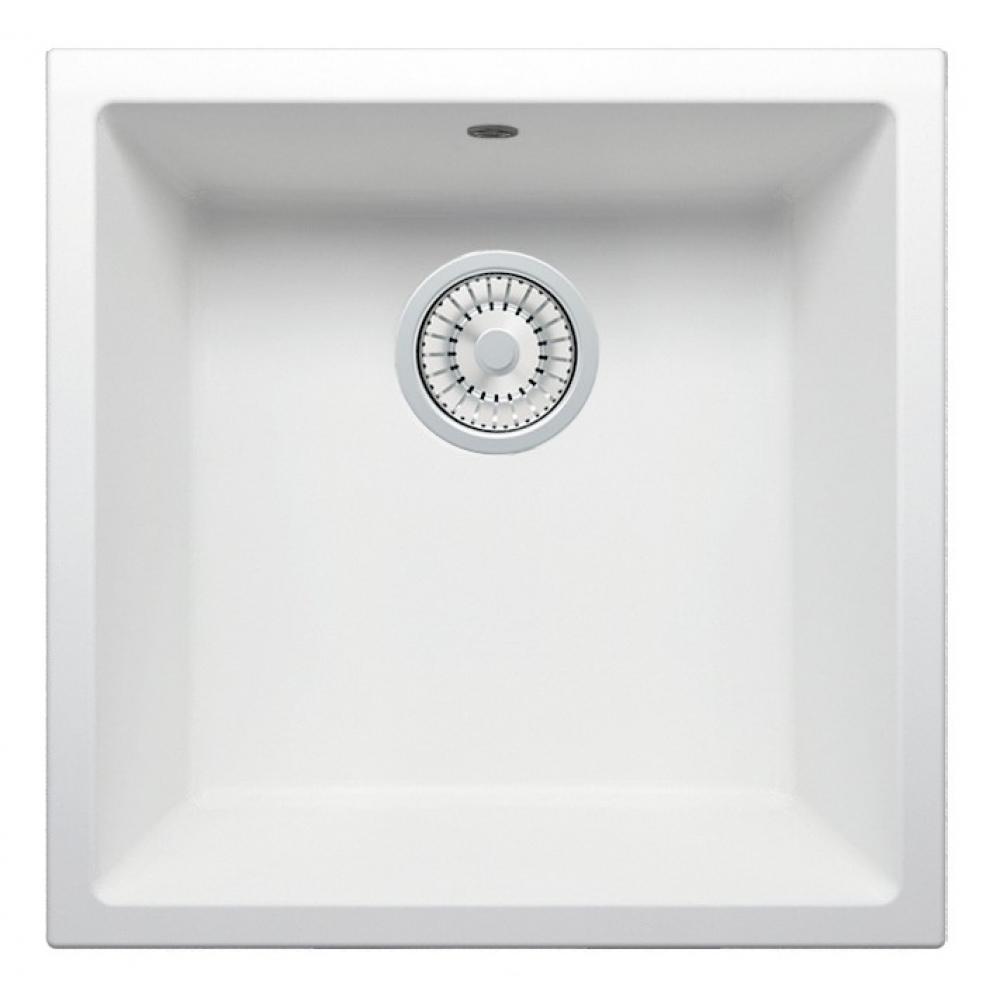 Кварцевая кухонная мойка tolero, цвет белый r-128 №923