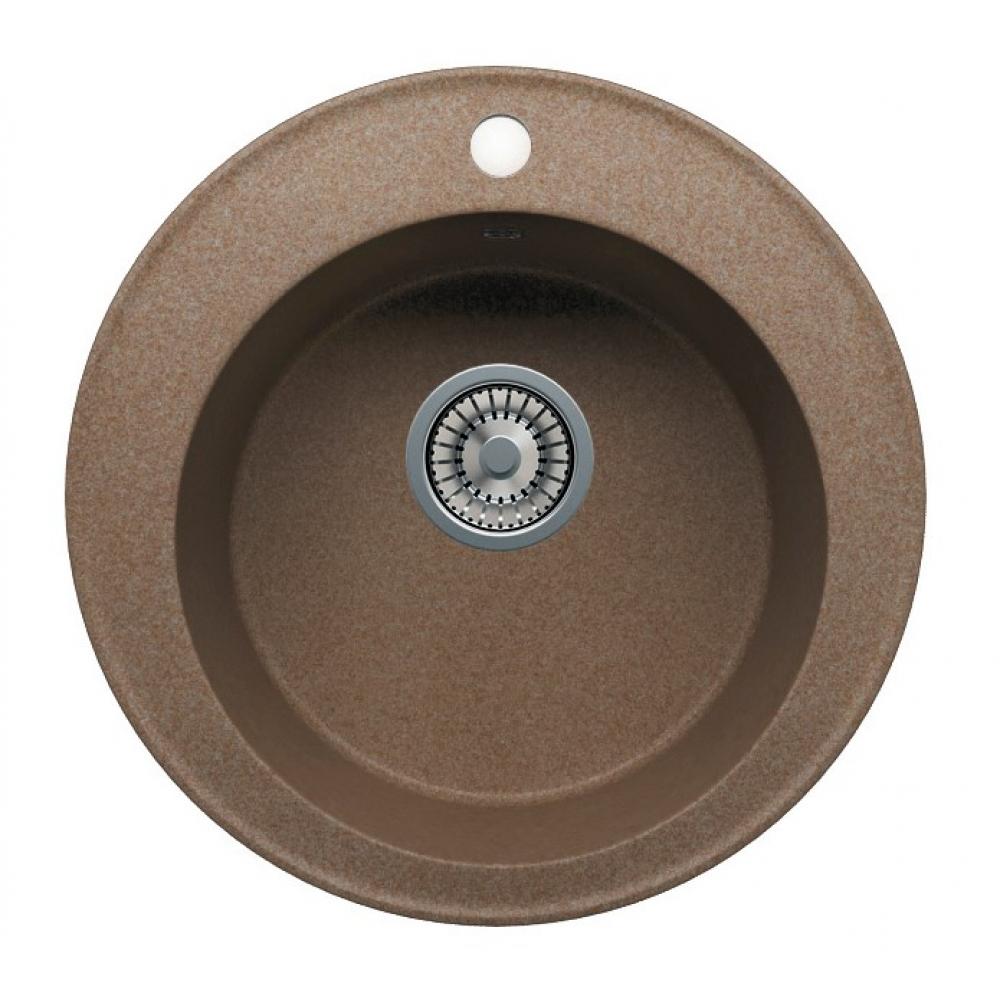 Кварцевая кухонная мойка tolero, цвет томно-бежевый r-108 №823