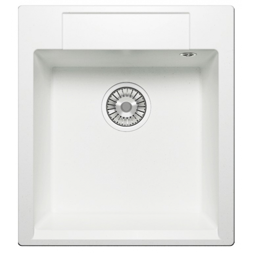 Кварцевая кухонная мойка tolero, цвет белый r-117 №923