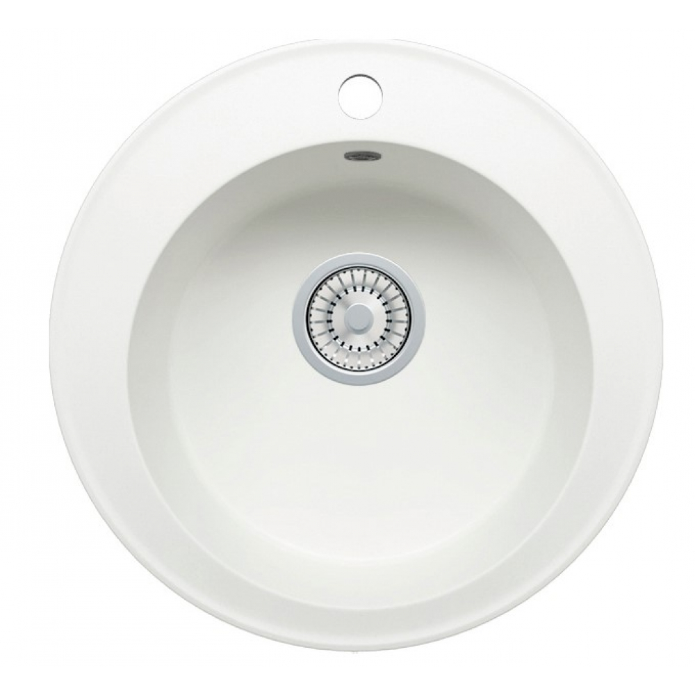 Кварцевая кухонная мойка tolero, цвет белый r-108 №923