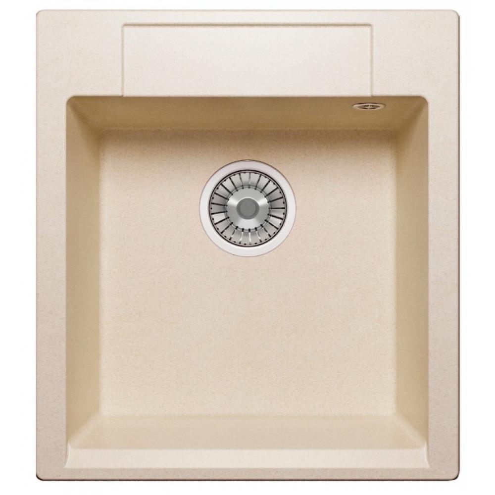 Кварцевая кухонная мойка tolero, цвет сафари r-117 №102