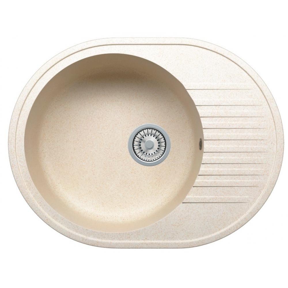 Кварцевая кухонная мойка tolero, цвет сафари r-122 №102
