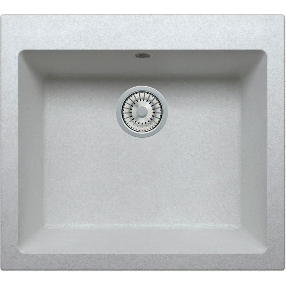 Кварцевая кухонная мойка tolero, цвет серый металлик r-111 №001