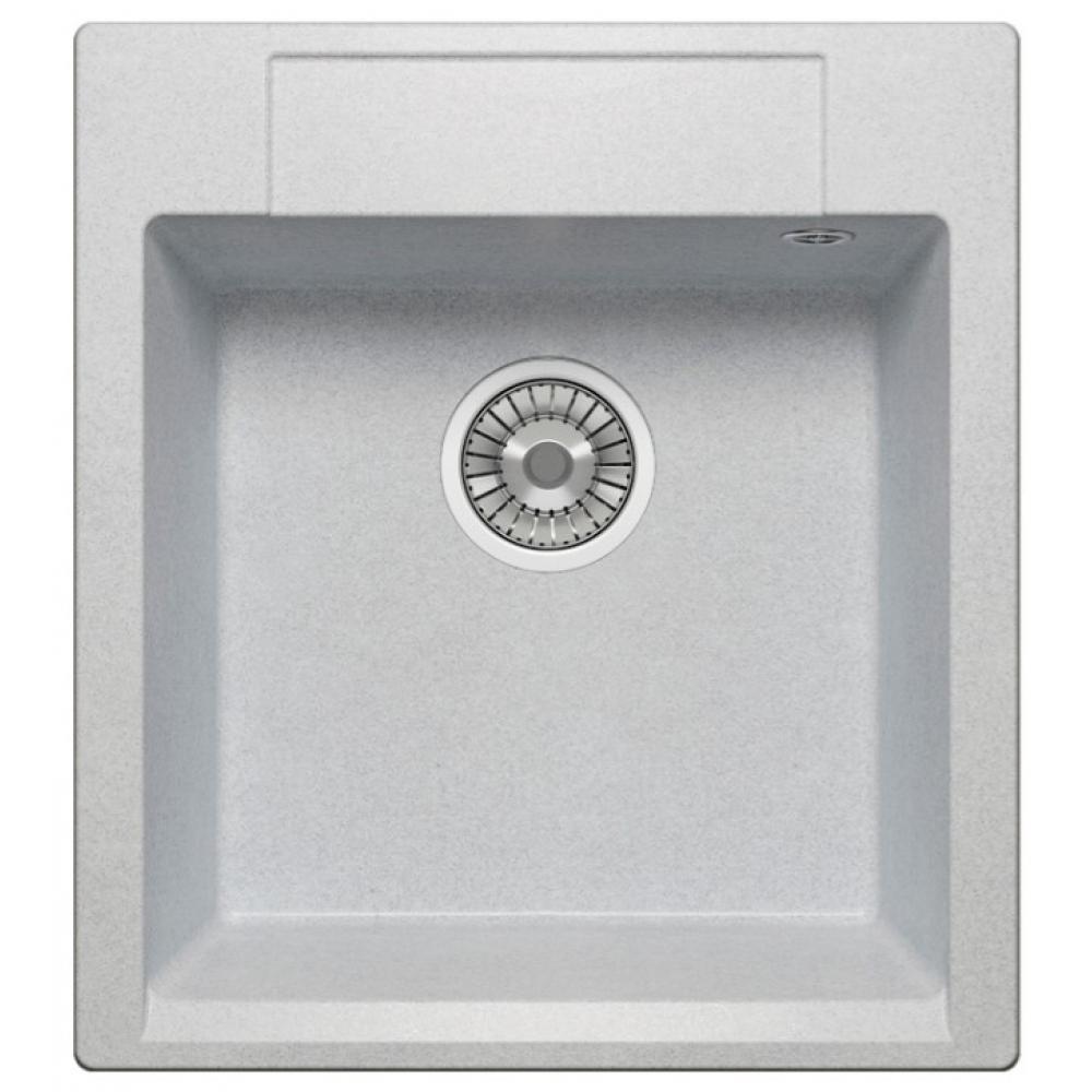 Кварцевая кухонная мойка tolero, цвет серый металлик r-117 №701