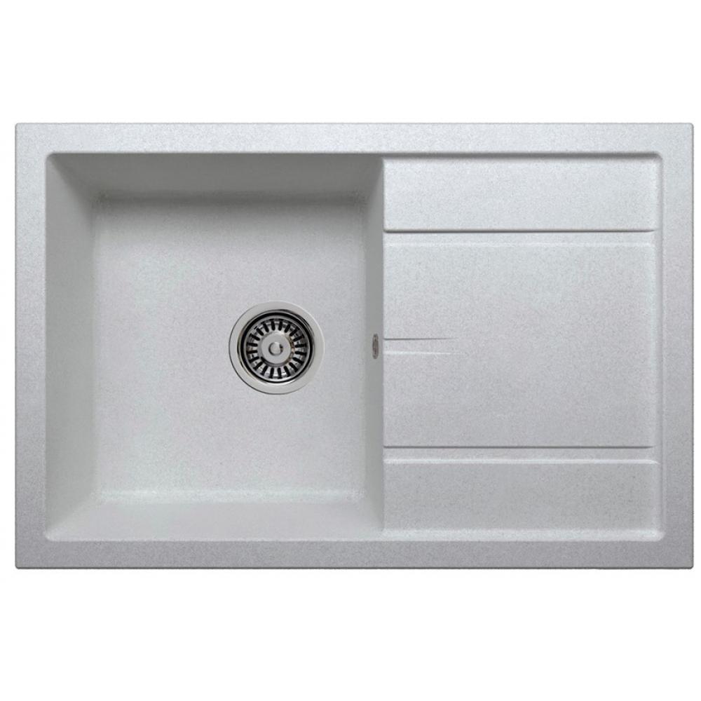 Кварцевая кухонная мойка tolero, цвет серый металлик r-112 №701