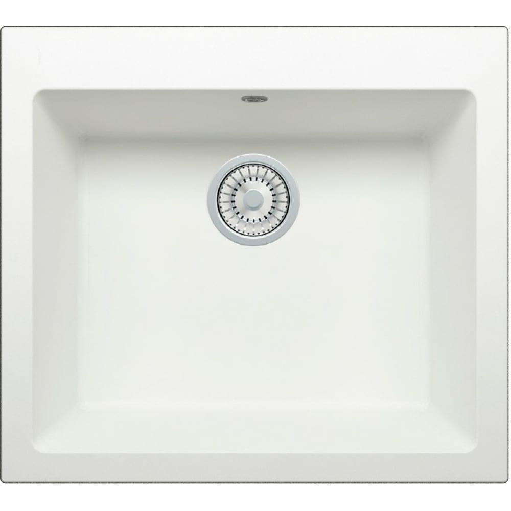 Кварцевая кухонная мойка tolero, цвет белый r-111 №923