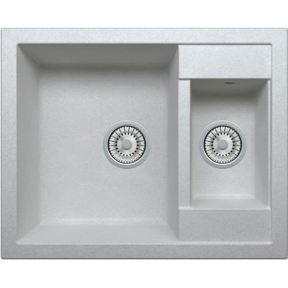 Кварцевая кухонная мойка tolero, цвет серый металлик r-109 №701