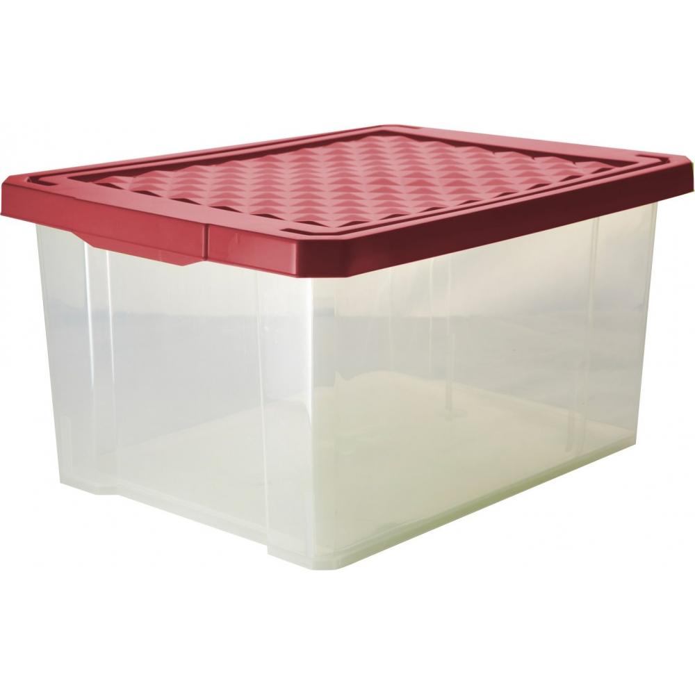 Купить Ящик для хранения branq optima 12 л бордовый bq2571брд