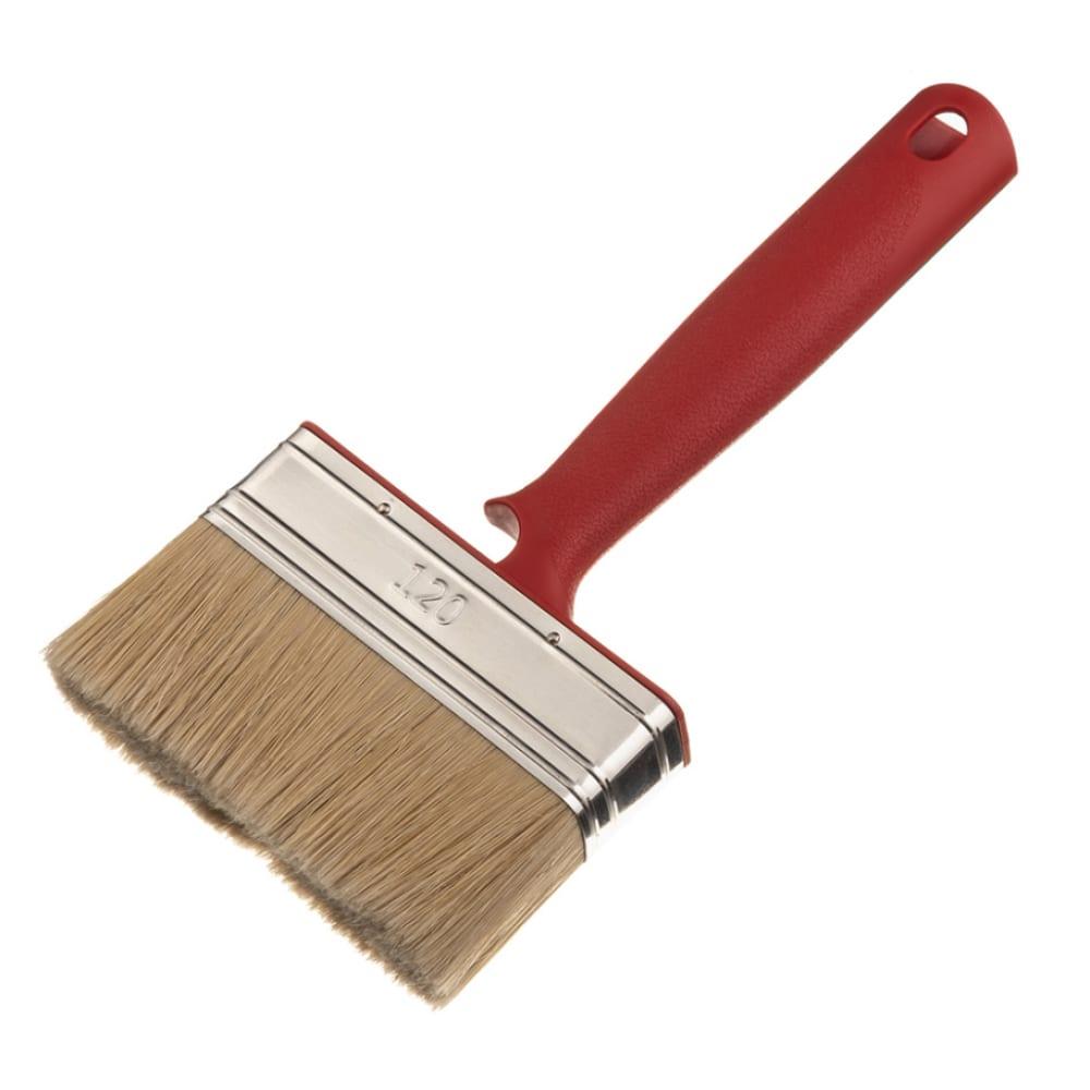 Купить Плоская кисть для дисперсионных, латексных, фасадных красок мелодия цвета смешанная щетина 261120