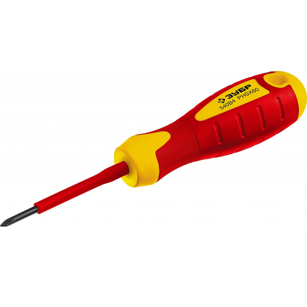 Купить Диэлектрическая отвертка зубр до 1000в профи cr-v ph 0 x 60 мм 25262-0-060_z01