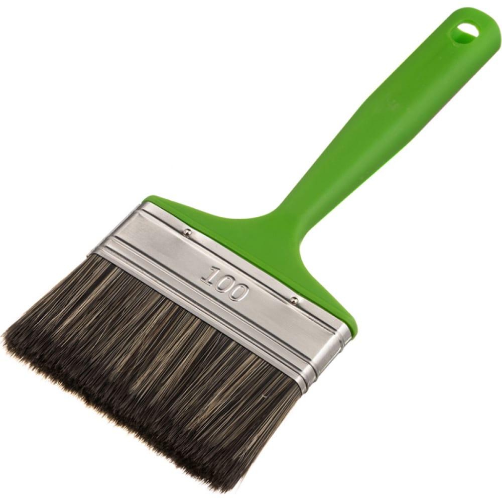 Купить Флейцевая кисть для работ по дереву смешанная щетина с1 100х14мм мелодия цвета 67100