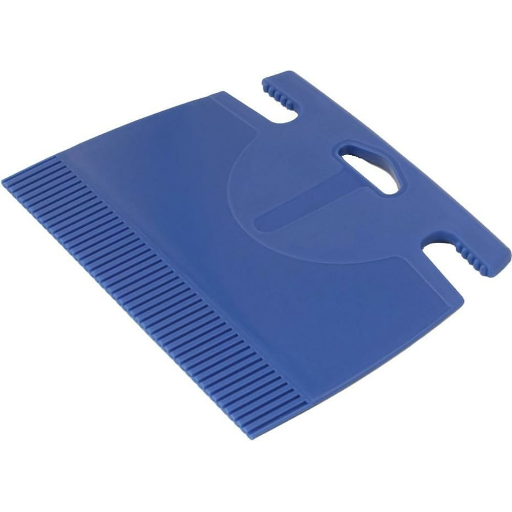 Купить Пластиковый шпатель для клея зубчатый в3 180х120мм зуб 1мм мелодия цвета 180120/1