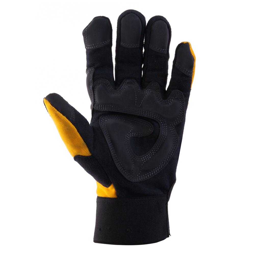 Купить Защитные трикотажные перчатки jeta safety, черно-желтые, размер xl, jav01-10/xl