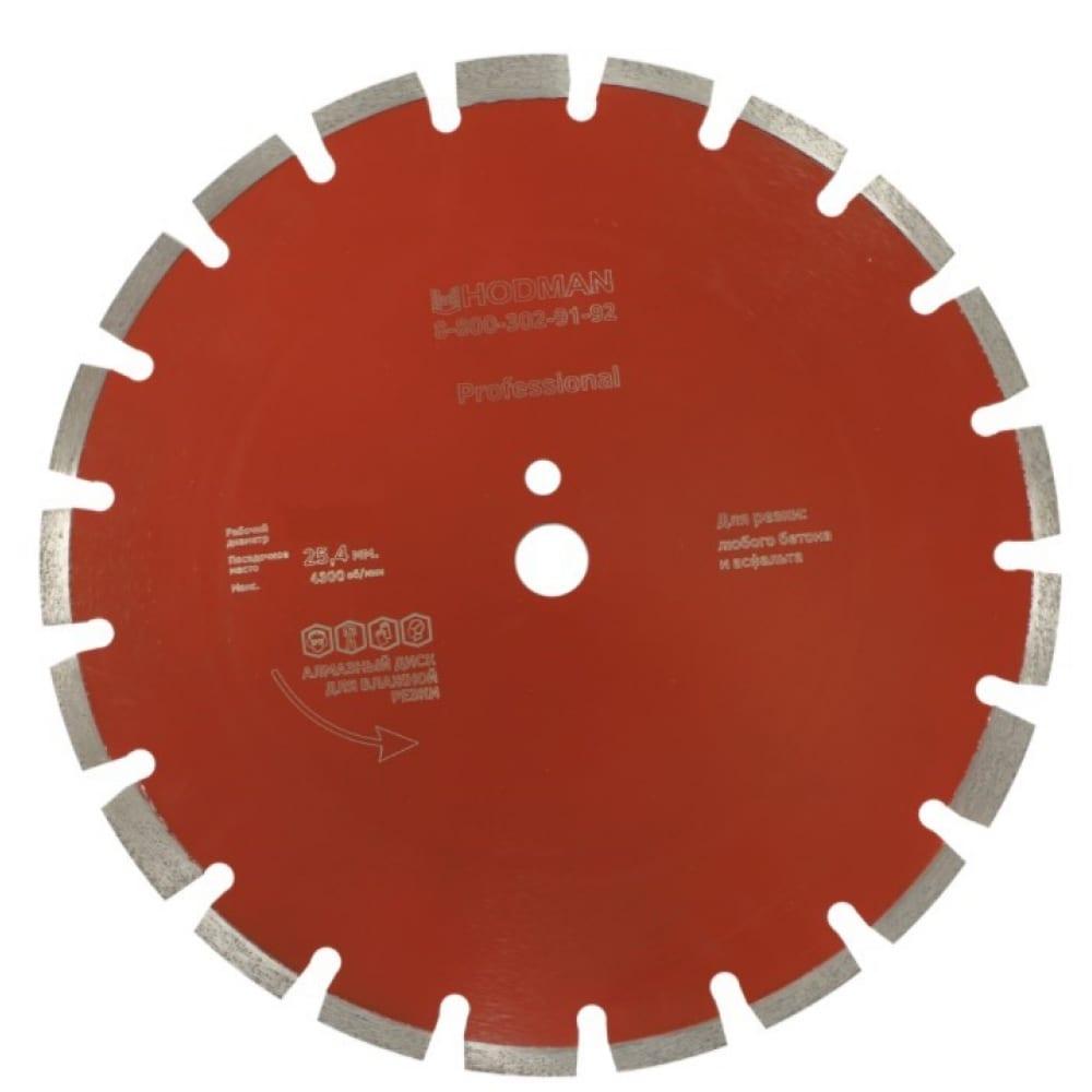 Диск алмазный professional (350x25.4x10 мм) для асфальта и бетона hodman 00-00000109  - купить со скидкой