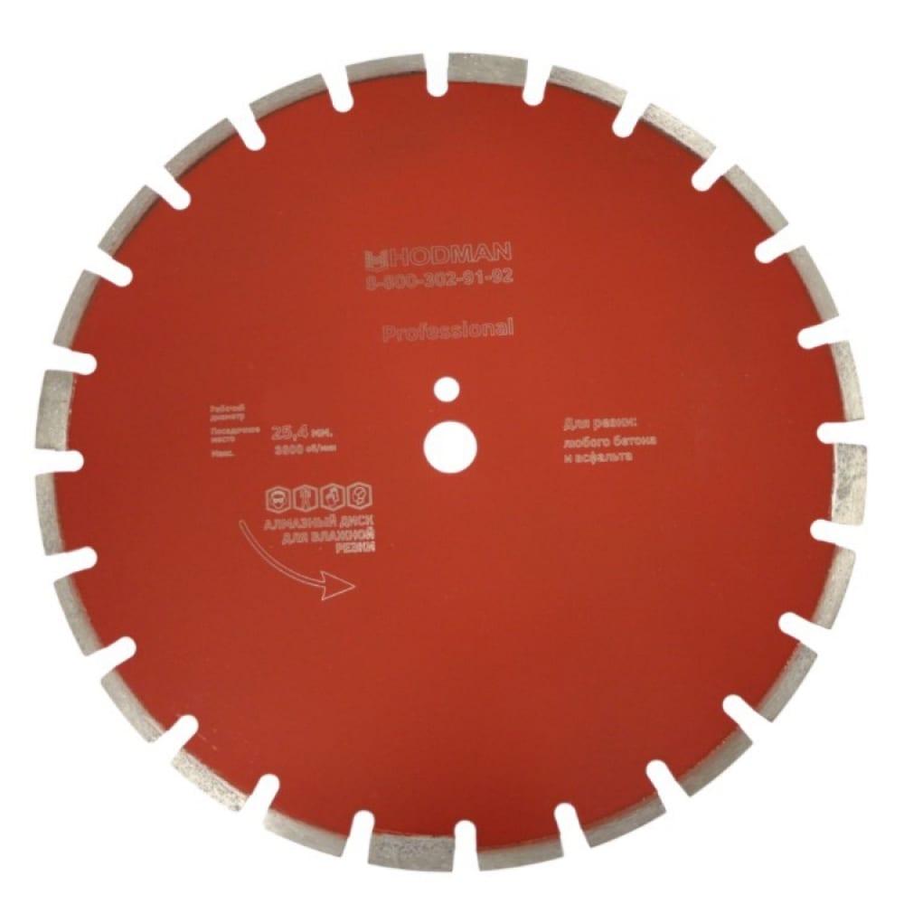 Купить Диск алмазный professional (500x25.4x10 мм) для асфальта и бетона hodman 2906