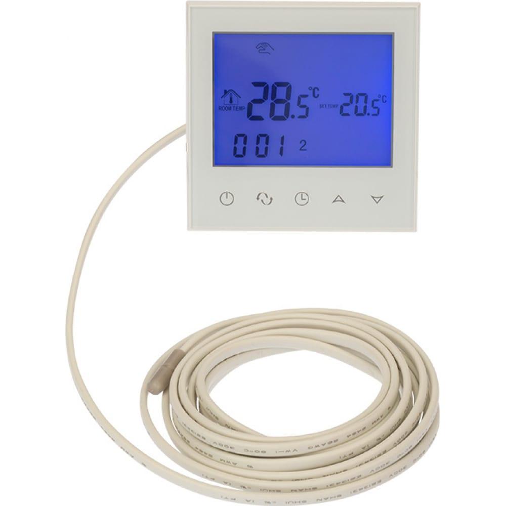 Терморегулятор с сенсорными кнопками r150 wi-fi белый rexant 51-0590