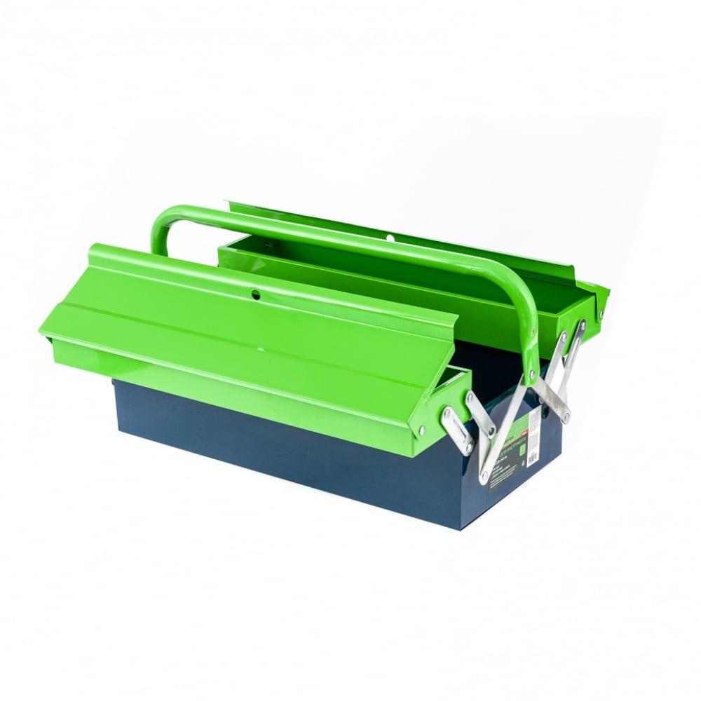Купить Ящик для инструмента сибртех 430x200x160 мм, три секции, металлический 90750