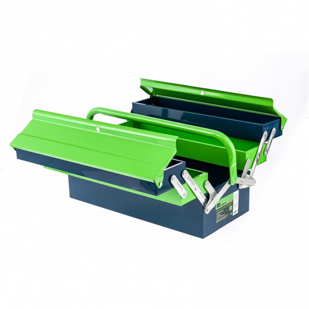 Купить Ящик для инструмента сибртех 430x200x200 мм, пять секций, металлический 90751