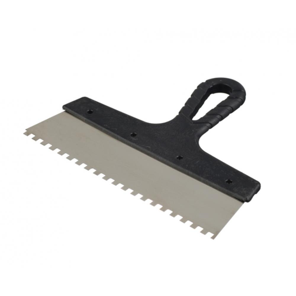 Купить Зубчатый шпатель нержавеющая сталь 250мм зуб 10х10мм jettools 202-250/10к
