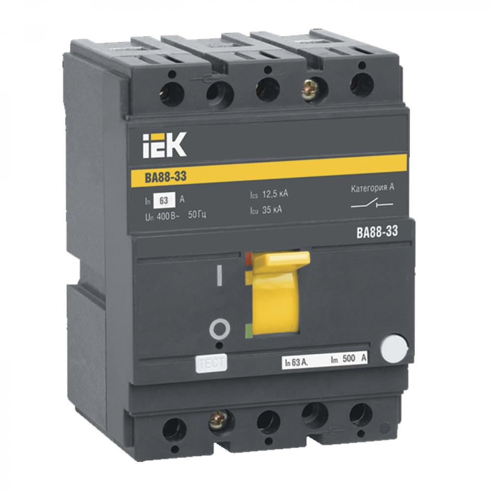Автоматический выключатель iek ва88-33, 3р, 63а, 35ка sva20-3-0063-r