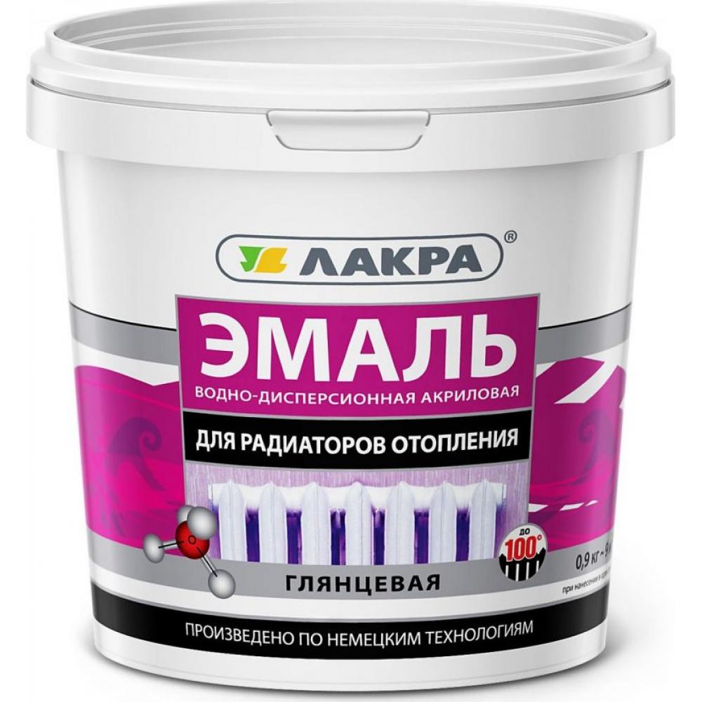 Купить Акриловая эмаль для радиаторов отопления лакра белая, глянцевая, 0.9 кг 90003485883