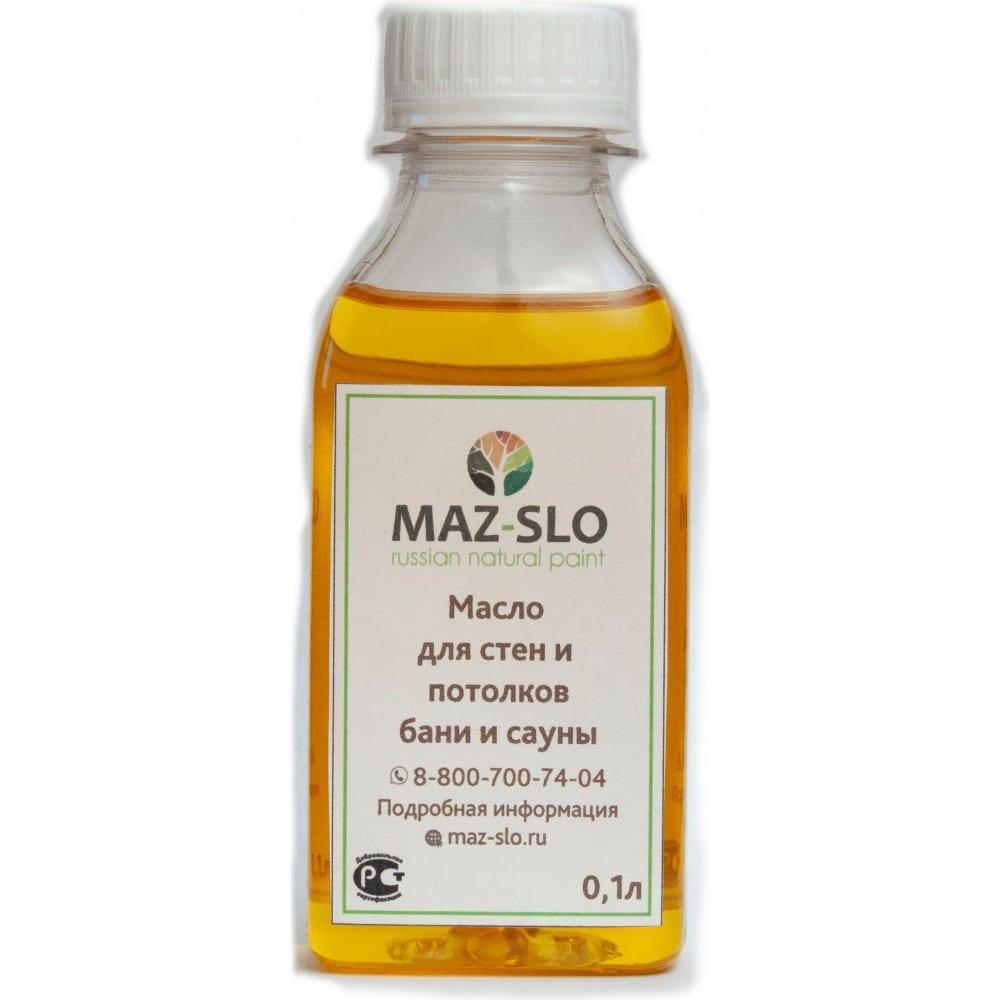 Купить Масло для стен и потолков в бане и сауне maz-slo цвет вереск 100 мл 8065667