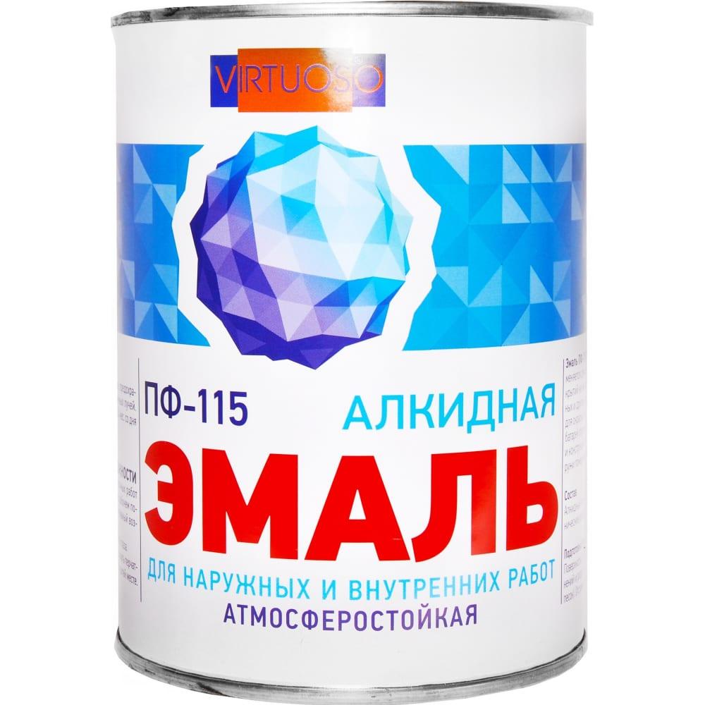 Купить Эмаль virtuoso пф-115 гост черная 0, 9 кг ral-9004 9 11588462