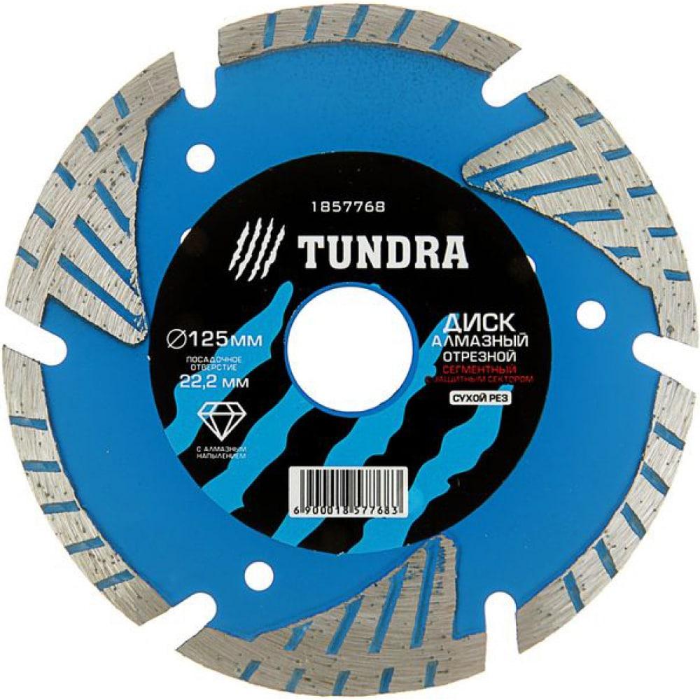 Купить Диск алмазный отрезной (125х22 мм; turbo-сегментный с защитными секторами; сухой рез) tundra 1857768