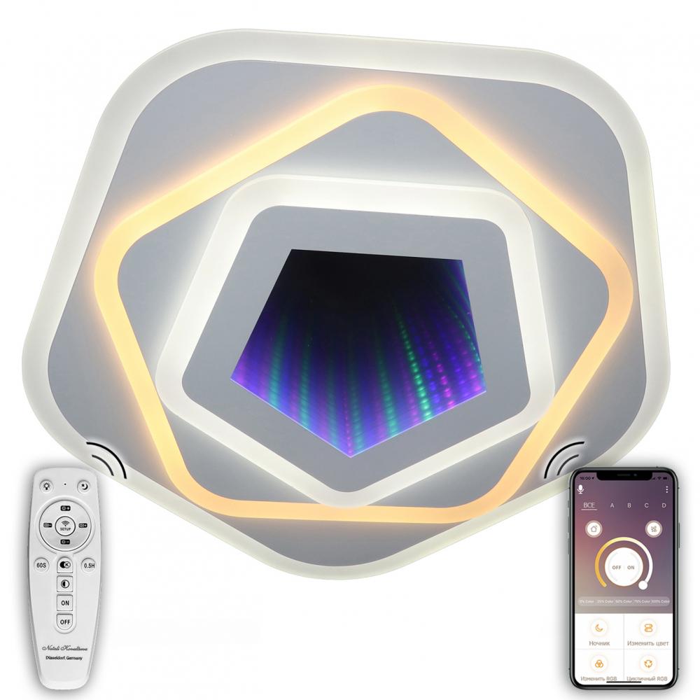 Купить Светодиодный светильник natali kovaltseva (люстра) 120w, белый, led rgb 81033/5c