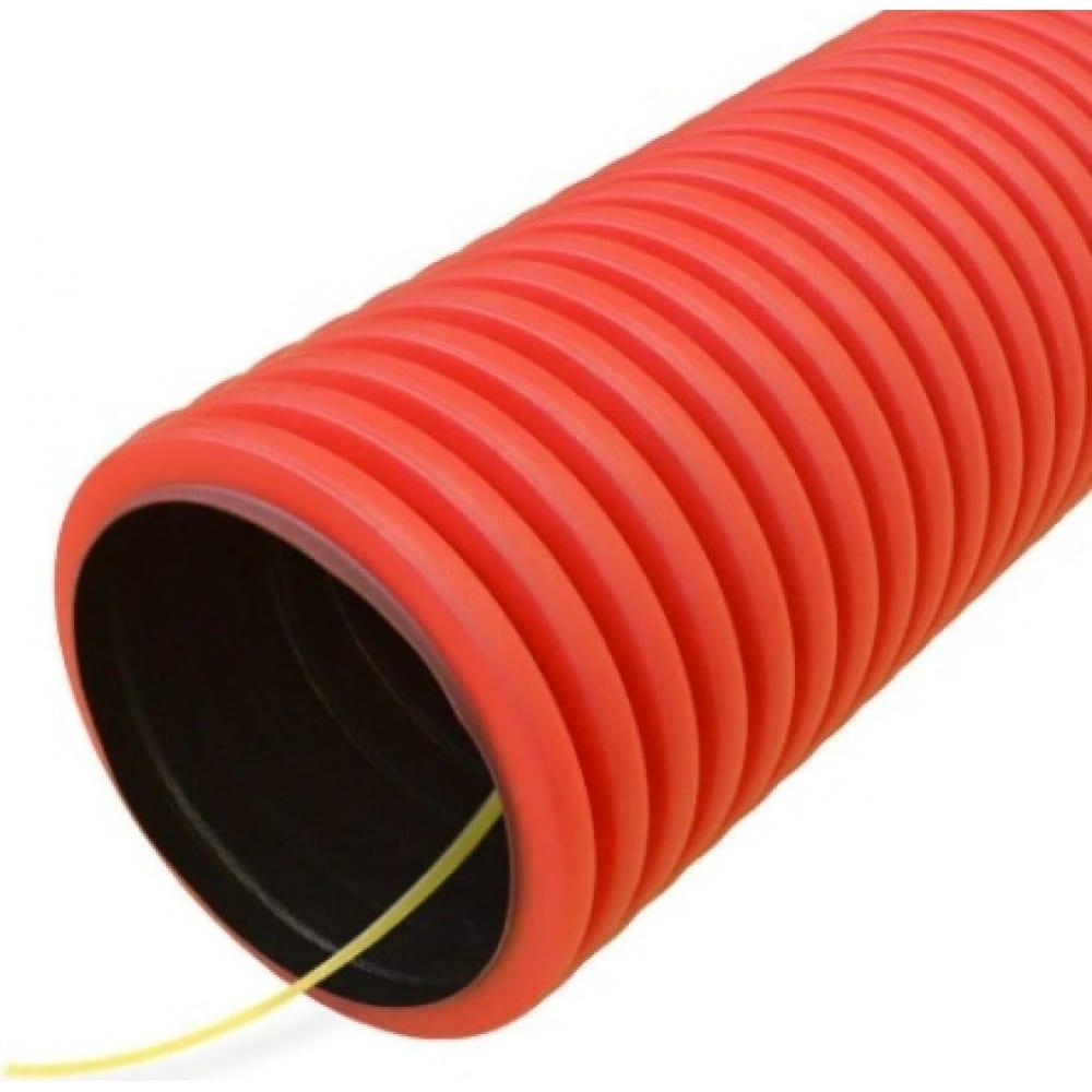 Купить Гофрированная двустенная труба промрукав пнд гибкая тип 450 с/з красная д110, 20м/уп pr15.0241