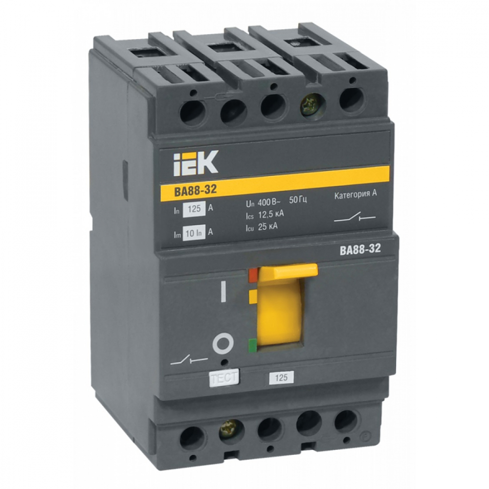 Автоматический выключатель iek ва88-32, 3р, 16а, 25ка sva10-3-0016-r