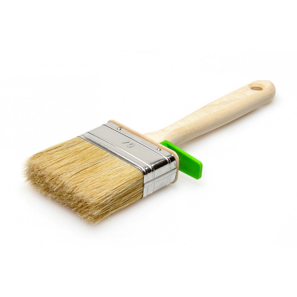 Купить Кисть для красок лазурный берег плоская, смешанная щетина, деревянная ручка 120х35мм кп-120*35