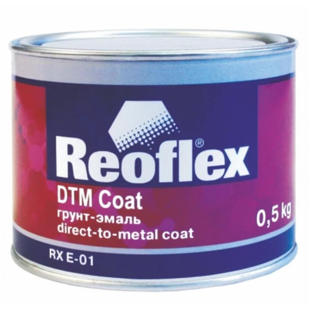 Грунт-эмаль reoflex черный, матовый, 0.5 кг rx e-01/500