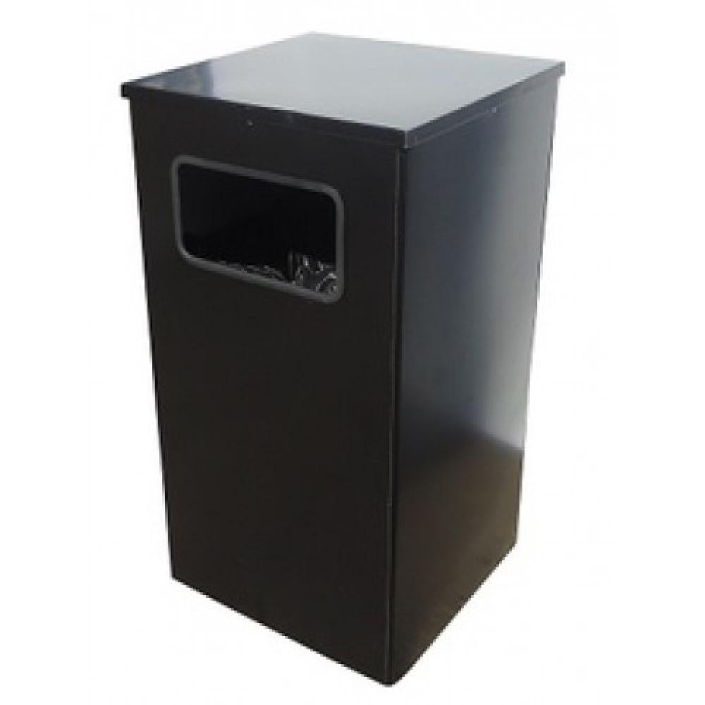 Купить Урна титан мета квадро-19 черный 4607078087283