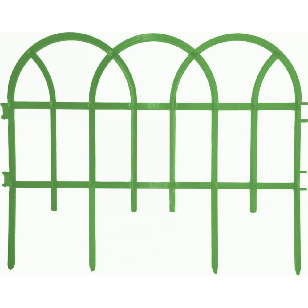 Купить Декоративный заборчик дачная мозаика готика ажурный зеленый 10592