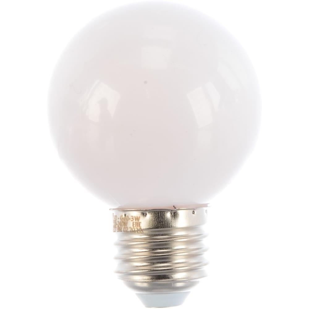 Купить Светодиодная декоративная лампа volpe led-g60-3w/3000k/e27/fr/с ul-00006955