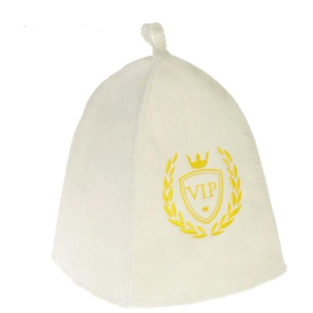 Купить Банная шапка добропаровъ с вышивкой vip, первый сорт 2852787