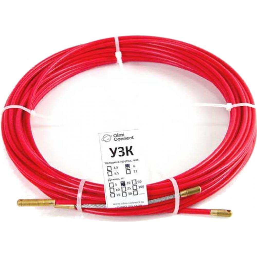 Протяжка для кабеля мини olmion узк d=3,5 мм l=30 м в бухте, красный сп-б-3,5/30