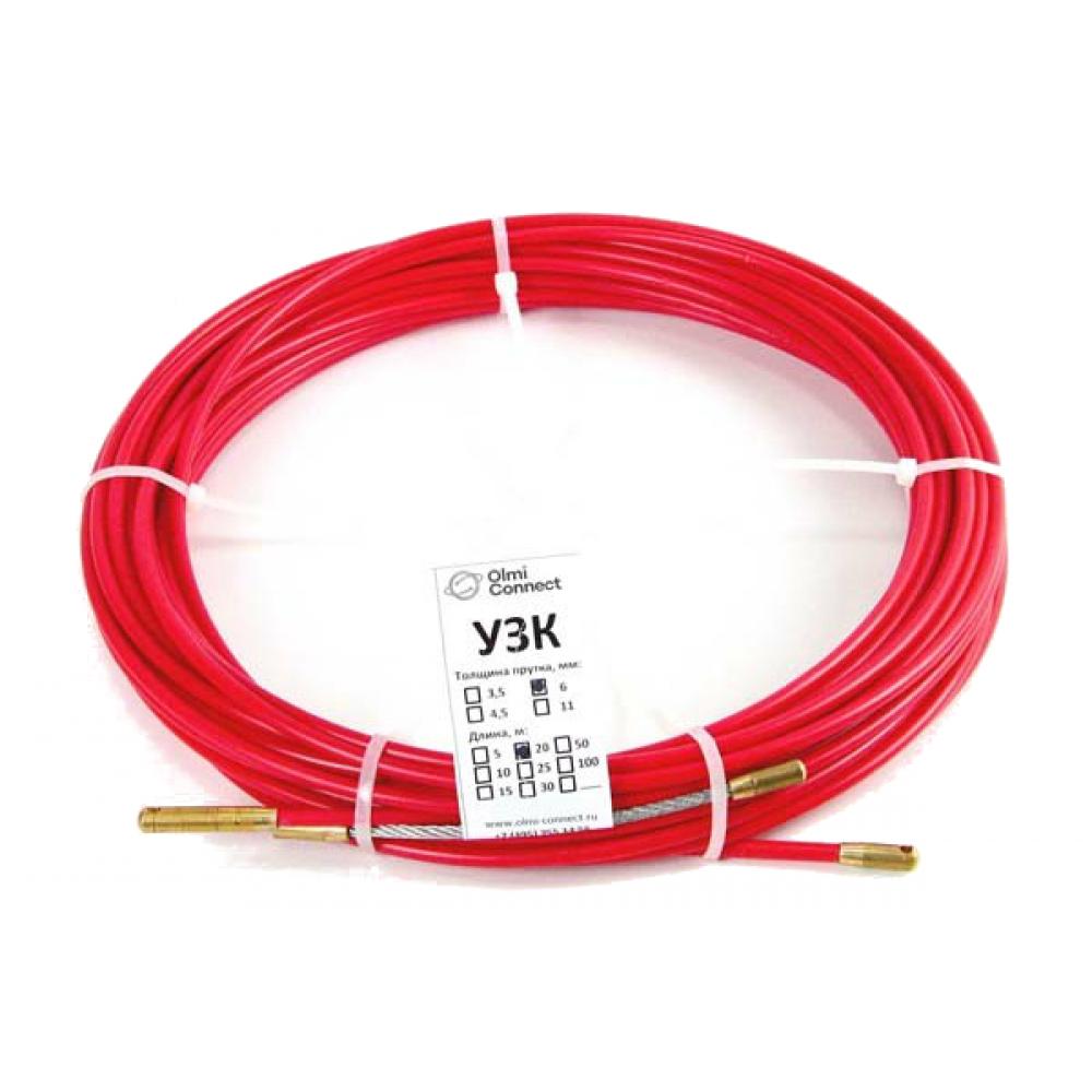 Протяжка для кабеля мини olmion узк d=3,5 мм l=5 м в бухте, красный сп-б-3,5/5