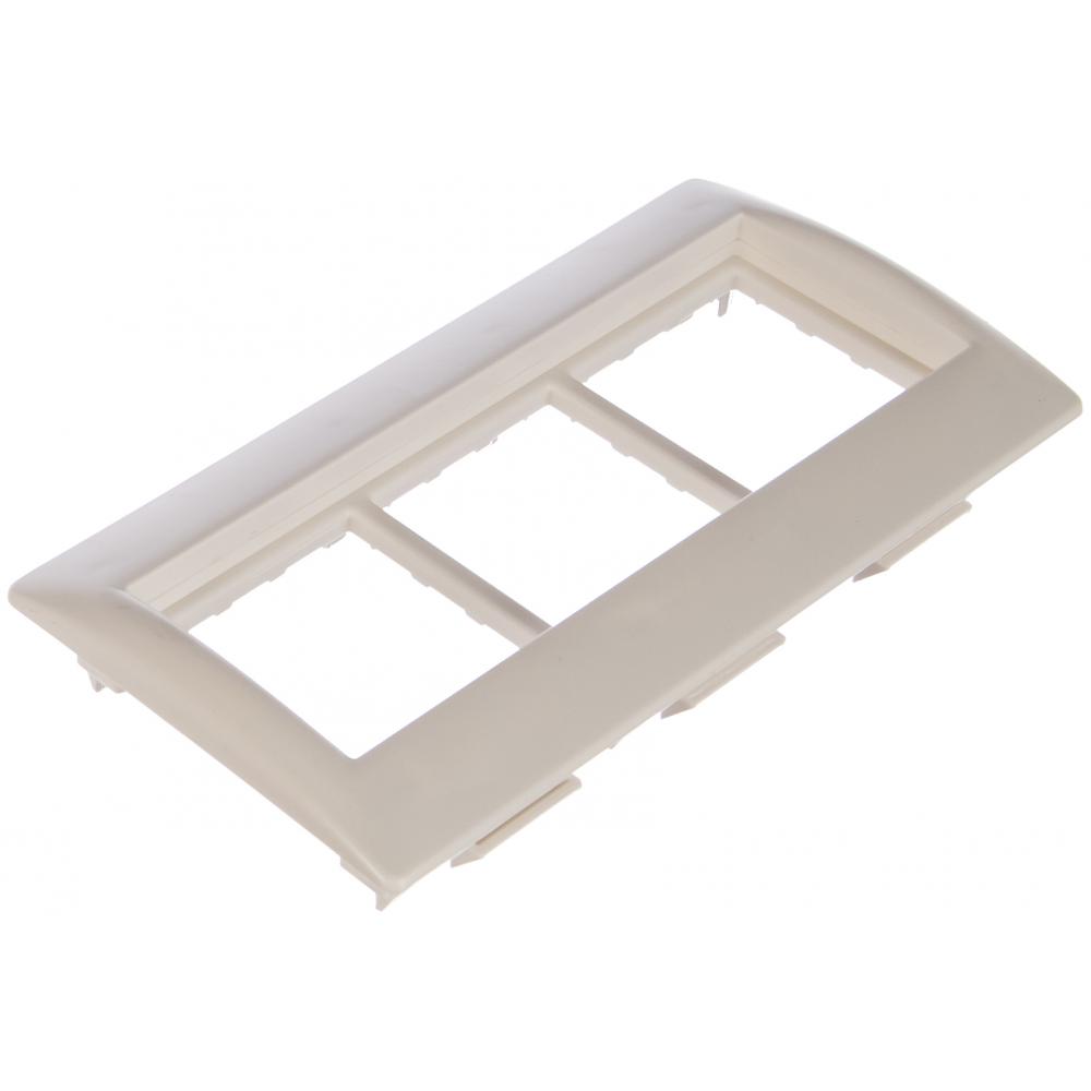 Купить Рамка и суппорт iek для кабель-канала праймер, на 6 модулей, 75 мм, ckk-40d-rsu6-075-k01