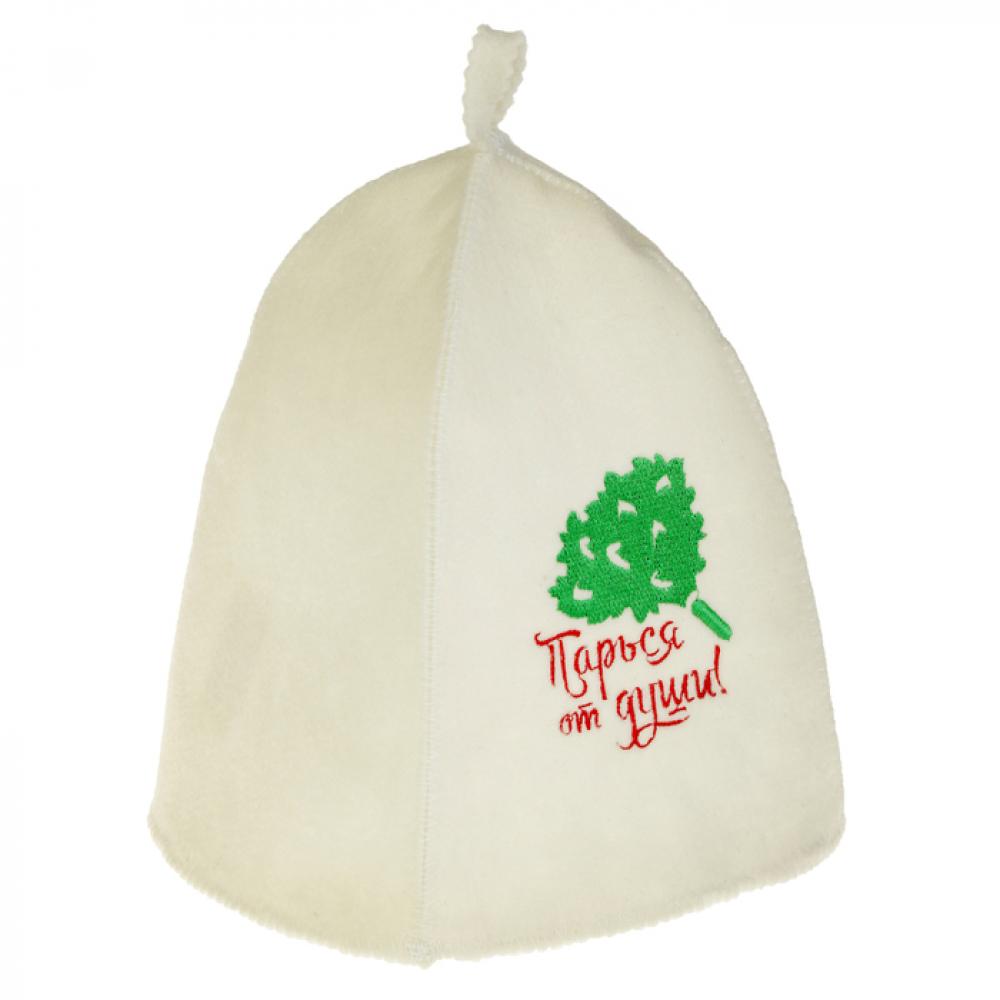 Купить Банная шапка с вышивкой добропаровъ парься от души 2822350