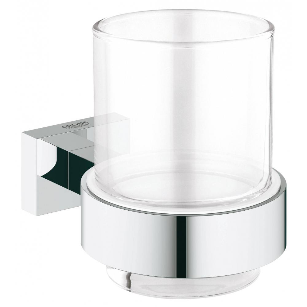 Купить Стакан с держателем grohe essentials cube 40755001